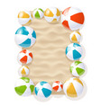 inflatable beach balls vector image vector image