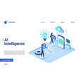 isometric artificial intelligence vector image vector image