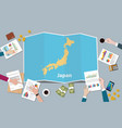 japan country growth nation team discuss with vector image vector image