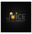 juice natural logo design background vector image