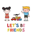 kids friendship vector image