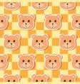 little bear pattern 02 vector image