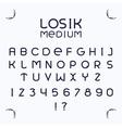 Losik Medium font vector image vector image