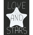 Love and stars poster vector image