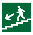Man on Stairs going down symbol vector image vector image
