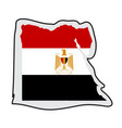 map of egyptian with its flag vector image vector image