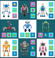 modern wireless robots with dinstant control set vector image vector image