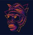 mother gorilla eyeglasses vector image vector image
