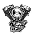 motorcye engine vector image vector image