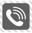 Phone Call Rounded Square Button vector image vector image