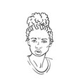 portrait mixed race caucasian - african american vector image