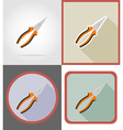 repair tools flat icons 02 vector image