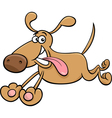 running dog cartoon vector image vector image