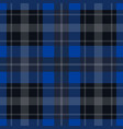 seamless blue black tartan - white stripes vector image vector image
