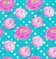 Seamless pattern with blooming flowers vector image vector image