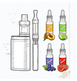set e-cigarette vector image