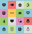 set of 16 editable love icons includes symbols vector image vector image