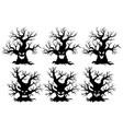 spooky tree monsters vector image