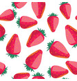 strawberry seamless pattern vector image vector image
