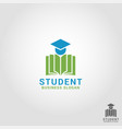 student - education logo template vector image