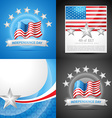 stylish set of american independence day vector image vector image
