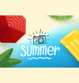 summer season concept with beach vector image vector image