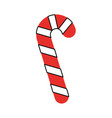 sweet christmas cane icon vector image vector image