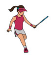 tennis player design vector image