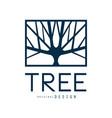 tree logo template original design blue eco badge vector image vector image