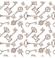 Vintage lock and key seamless pattern vector image vector image