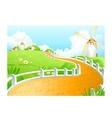Windmill Landscape Scene vector image
