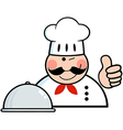 Winked Chef Logo Showing Thumbs Up vector image