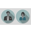 woman and man businessman icons vector image vector image
