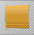 yellow curved realistic paper scroll vector image