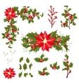 Christmas berry flower vector image