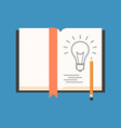 Sketch new idea concept Flat design Isolated on vector image