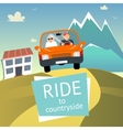 Ride to Countryside vector image
