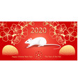 2020 chinese new year rat greeting card vector image vector image