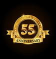55 years anniversary celebration logotype