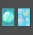 abstract bright turquoise cosmic backgrounds vector image vector image