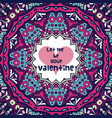abstract violet valentine background with hearts vector image