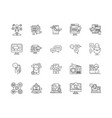 advertising media line icons signs set vector image vector image