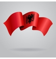 Albanian waving Flag vector image vector image