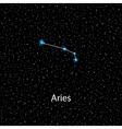 Aries Zodiac sign bright stars vector image