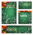 back to school study chalkboard posters vector image vector image