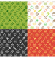 bbq party signs seamless pattern background set vector image