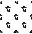 beach hat with flip-flops icon in black style vector image vector image