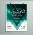 beautiful electro club party flyer template design vector image vector image