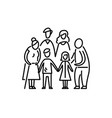 big family children parents and grandparents vector image