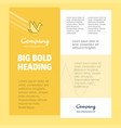 Bird business company poster template with place